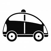 City Self Driving Car Icon. Simple Illustration Of City Self Driving Car Vector Icon For Web Design  poster