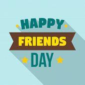 Friendship Day Logo. Flat Illustration Of Friendship Day Vector Logo For Web Design poster