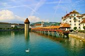 Kapellbr�cke Bridge in Lucerne Switzerland
