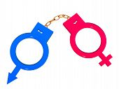 Symbols In The Form Of Handcuffs