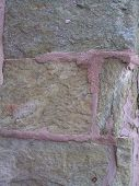picture of fieldstone-wall  - old stonework in philadelphia with several repair attempts made to the mortar joints - JPG