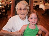 picture of oma  - Story visiting Oma on her 95th birthday and riding with her in her wheelchair - JPG
