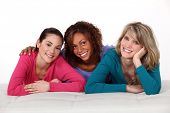 image of pal  - Portrait of three young women - JPG