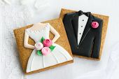 picture of cookie  - Bride and groom cookies - JPG