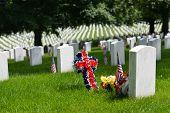stock photo of arlington cemetery  - Memorial Day in Arlington National Cemetery  - JPG