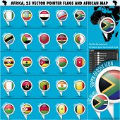 picture of north sudan  - Africa Pointer Flag Icons with african Map set1 - JPG