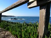 stock photo of mendocino  - Pacific Ocean view in Mendocino CA USA - JPG