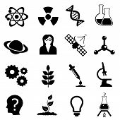image of biological hazard  - Science related physics biology and chemistry icon set - JPG