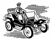 Old Fashioned Car - Retro Clip Art Illustration
