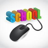 Постер, плакат: Школа знак и иллюстрации дизайн мыши