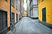 image of cobblestone  - streets of old town  - JPG