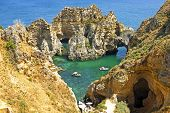 picture of lagos  - Natural rocks near Lagos Portugal - JPG