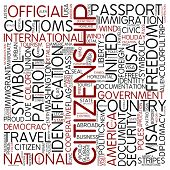 Word cloud - citizenship