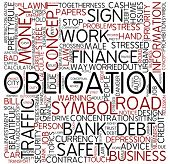 Word cloud - obligation