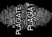 stock photo of plagiarism  - Word Cloud  - JPG