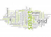foto of smart grid  - Word cloud  - JPG