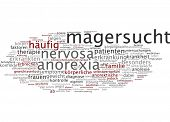 image of anorexia nervosa  - Word cloud  - JPG