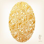 foto of oval  - floral ornament design element in oval form - JPG