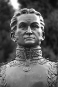 foto of bolivar  - Simon Bolivar (1783-1830). Remembered as the Founder of la Gran Colombia (The Great Colombia: Ecuador Colombia & Venezuela) and Liberator of Colombia Ecuador Peru and Venezuela.