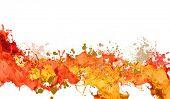 stock photo of dab  - Background image with colorful splashes on white backdrop - JPG