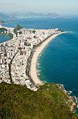 foto of ipanema  - Aerial View of Ipanema and Leblon Beach from the Mountain in Rio de Janeiro - JPG