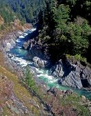 foto of klamath  - the klamath river flowing through the klamath national forest in northern california - JPG