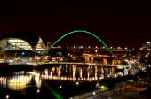 The Gateshead Millenium bridge, and the Sage