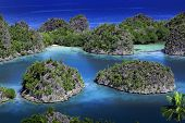 stock photo of raja  - Raja Ampat islands tropical paradise ocean in West Papua - JPG