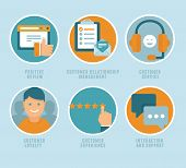 foto of customer relationship management  - Vector flat customer experience concepts  - JPG