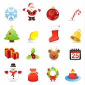 image of rudolph  - Colorful Christmas  icons isolated on white background - JPG