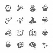 picture of magic-wand  - Simple Set of Magic Related Vector Icons - JPG