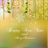 image of weihnachten  - New year greeting card Christmas bow and ribbon - JPG