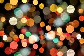 foto of heptagon  - Photo of bokeh lights on black background - JPG