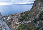 pic of sparta  - Top view of Monemvasia - JPG