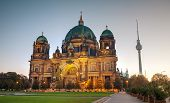 picture of dom  - Berliner Dom overview early in the morning - JPG