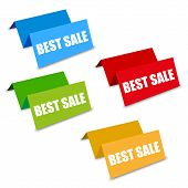 pic of spatial  - four color best sale spatial tags vector on white background - JPG