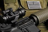 stock photo of m4  - Military still life - JPG
