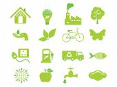 stock photo of polution  - abstract detailed multiple eco icon vector illustration - JPG