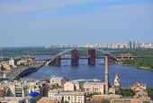 picture of movable  - movable bridge on Dnieper river in Kiev - JPG