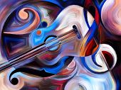 image of perception  - Abstract painting on the subject of music and rhythm - JPG