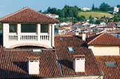 stock photo of vicenza  - View of typical roofs of some houses in Vicenza - JPG