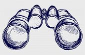 foto of binoculars  - Binoculars sketch - JPG