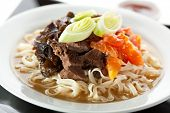picture of noodles  - Soup with Chinese Noodles - JPG