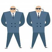 stock photo of bodyguard  - Formidable security professionals secret service bodyguards - JPG
