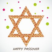 pic of passover  - illustration of Happy Passover in gray background - JPG