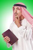 picture of arab man  - Arab man praying on white - JPG
