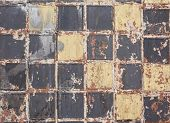 picture of grout  - Old dirty colorful tile background - JPG