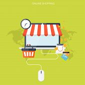 picture of internet shop  - Internet shopping concept - JPG