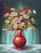 image of vase flowers  - Picture Oil Painting on a Canvas - JPG