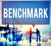 image of average man  - Benchmark Standard Management Improvement Benchmarking Concept - JPG